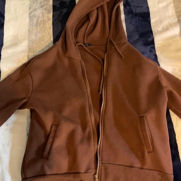 Cute brown zip-up hoodie